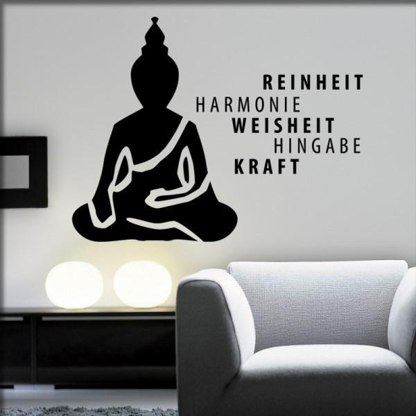 Wandtattoo Buddha Reinheit