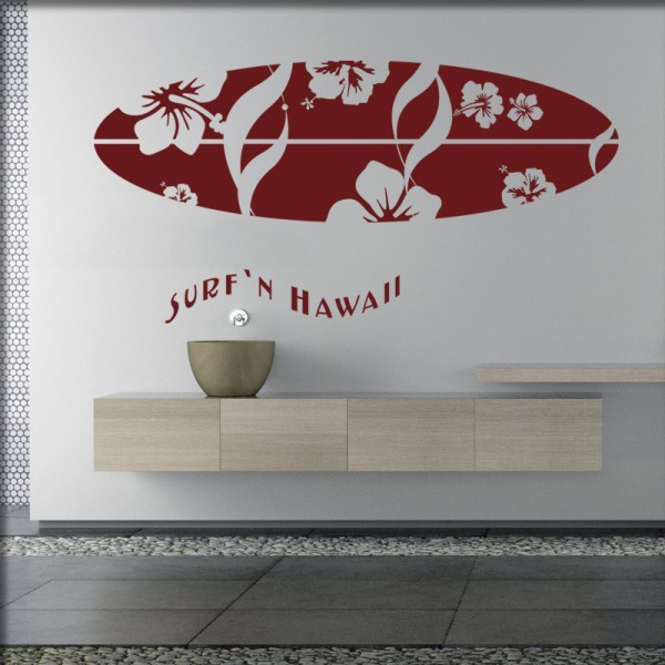 Wandtattoo Hawaii Surfer