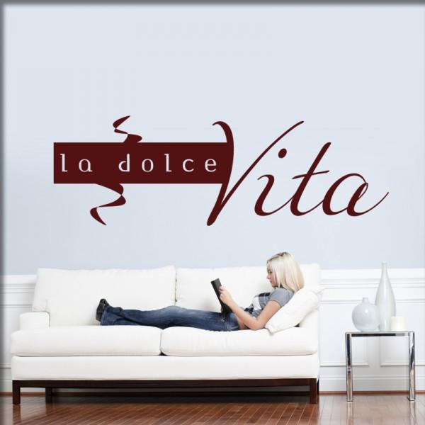 Wandtattoo La dolce Vita
