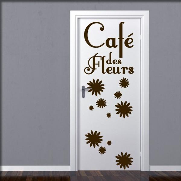 Wandtattoo Café des Fleurs