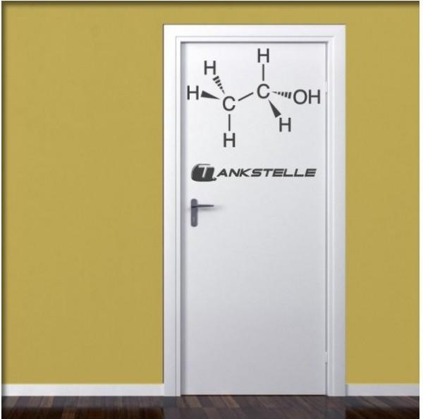 Wandtattoo Ethanolmolekül