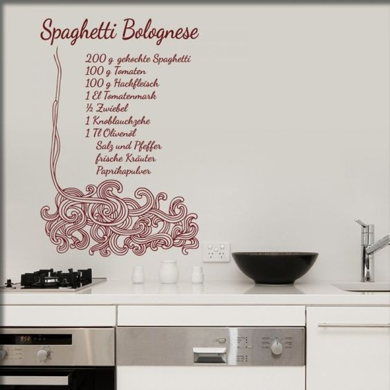 Wandtattoo Spaghetti