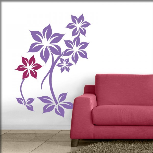 Wandtattoo Flora 2-farbig (S4)