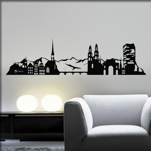 Wandtattoo Zürich Skyline