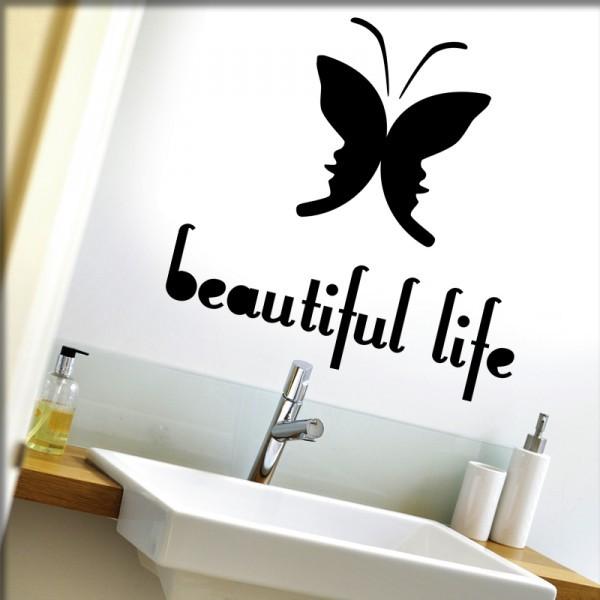 Wandtattoo beautiful life