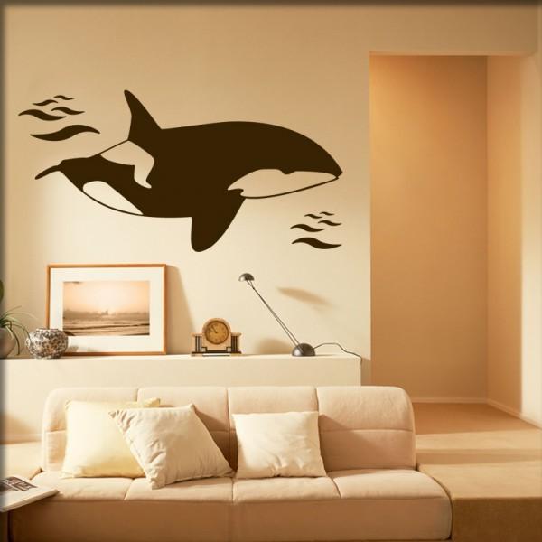 Wandtattoo Orca