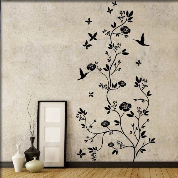 Wandtattoo Blumenbaum