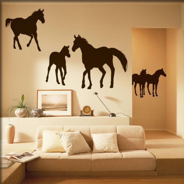 Wandtattoo Pferdegruppe