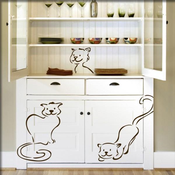 Wandtattoo Katzenbabys