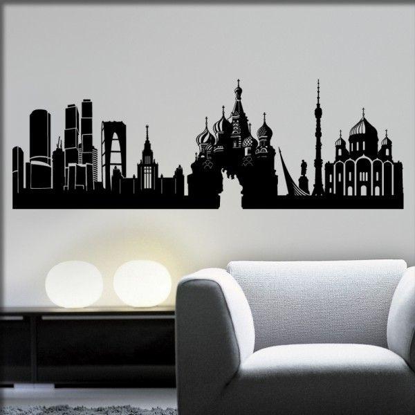 Wandtattoo Moskau Skyline