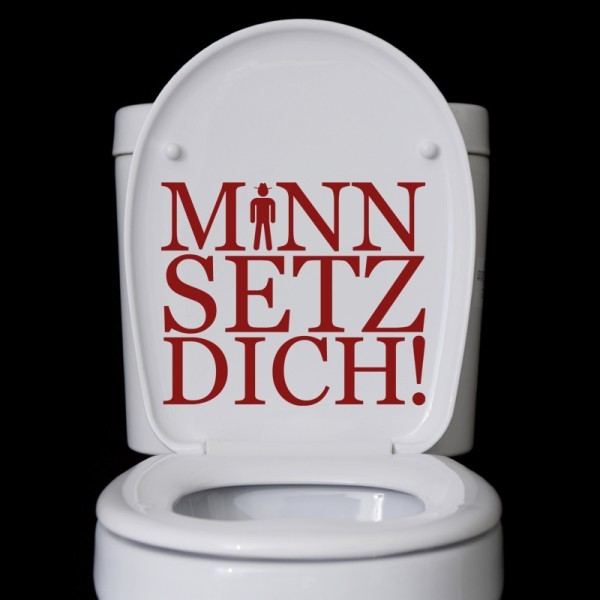 Wandtattoo Mann Setz Dich
