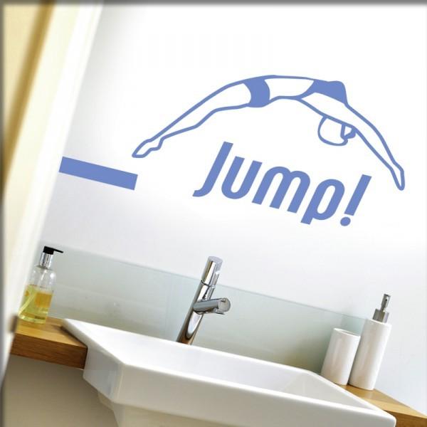 Wandtattoo Jump