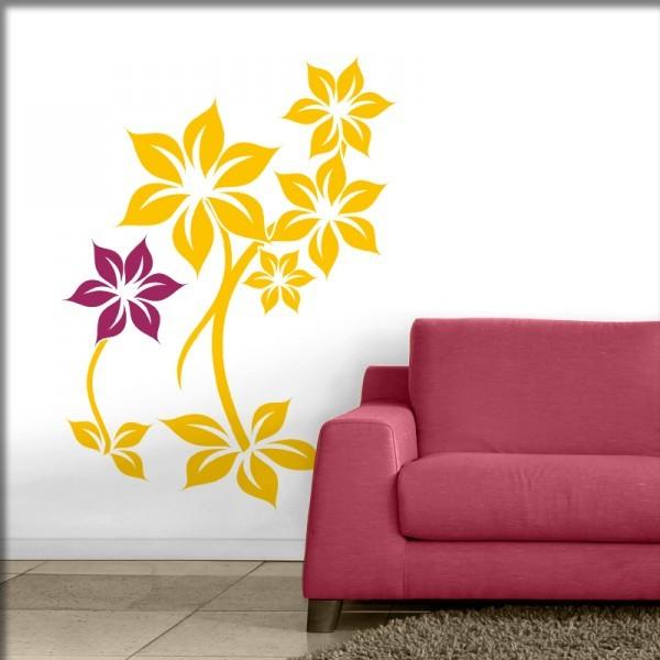 Wandtattoo Flora 2-farbig (S1)