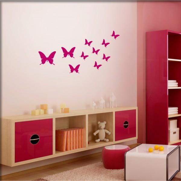 Wandtattoo Kleine Schmetterlinge