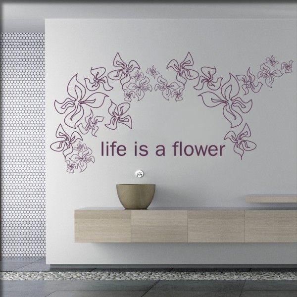 Wandtattoo Blumenbogen